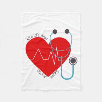 Manta Polar El mejor doctor Nurse del mundo personalizado