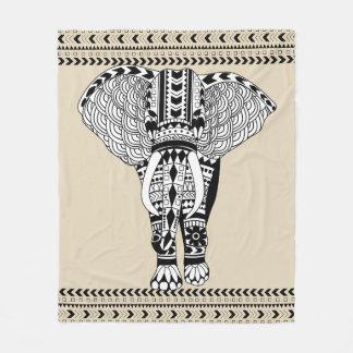 Manta Polar Elefante modelado tribal bohemio de moda
