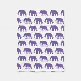 Manta Polar Elefantes púrpuras