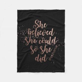"""Manta Polar """"Ella creyó que ella podría así que ella lo hizo"""""""