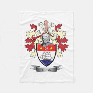 Manta Polar Escudo de armas del escudo de la familia de Gunn