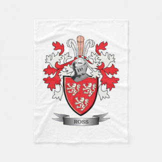 Manta Polar Escudo de armas del escudo de la familia de Ross