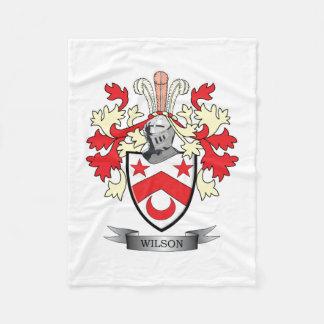 Manta Polar Escudo de armas del escudo de la familia de Wilson
