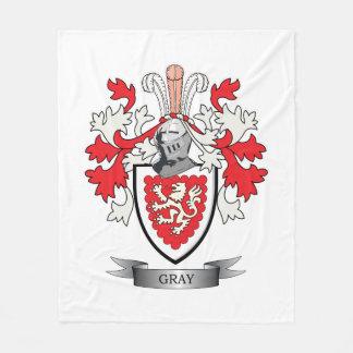 Manta Polar Escudo de armas gris del escudo de la familia