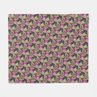 Manta Polar Estampado de flores abstracto