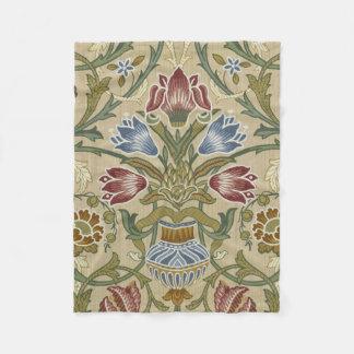 Manta Polar Estampado de flores del brocado de William Morris
