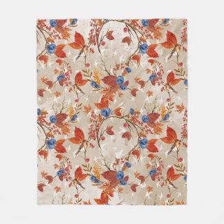 Manta Polar Estampado de flores rústico de la flor del otoño