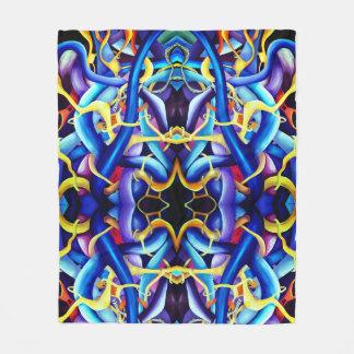 Manta Polar Extracto azul contemporáneo - ilusión de la