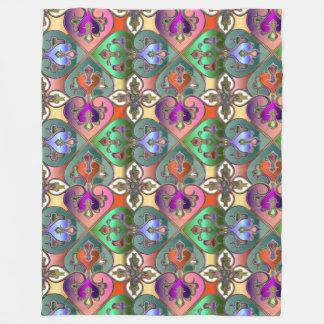 Manta Polar Extracto colorido elegante del Arabesque