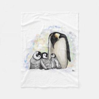 Manta Polar Familia del pingüino del bebé