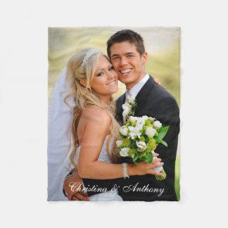 Manta Polar Foto de encargo del boda