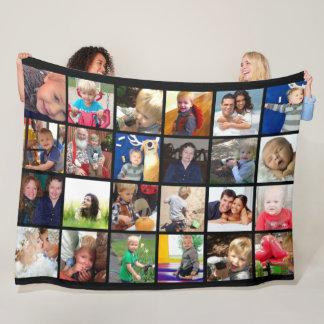 Manta Polar Fotos de familia del collage de la foto