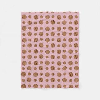 Manta Polar Galletas de microprocesador de chocolate muy rosas