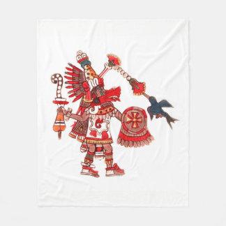 Manta Polar Guerrero azteca del shaman del baile