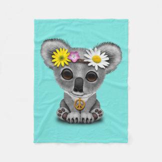 Manta Polar Hippie lindo de la koala del bebé