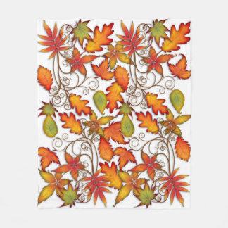 Manta Polar Hojas de otoño coloridas