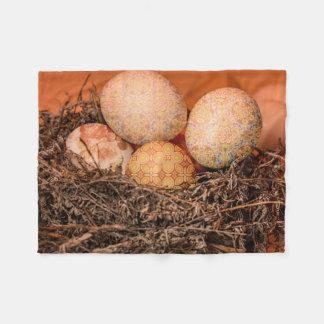 Manta Polar Huevos de Pascua rústicos en jerarquía
