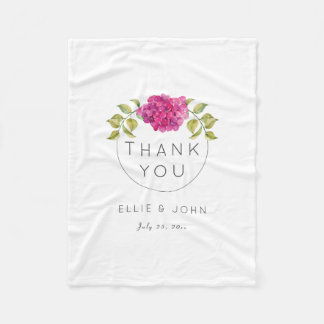Manta Polar Hydrangea de las rosas fuertes del favor del boda