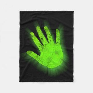 Manta Polar Impresión de la mano que brilla intensamente