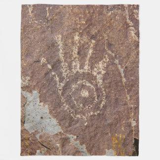 Manta Polar Impresión estilizada de la mano