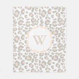 Manta Polar Impresión neutral con clase del guepardo y letra