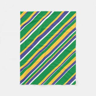 Manta Polar La bandera del Brasil inspiró el modelo coloreado