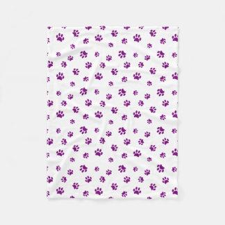 Manta Polar La pata púrpura imprime el modelo