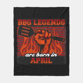 Manta Polar Las leyendas del Bbq nacen en abril