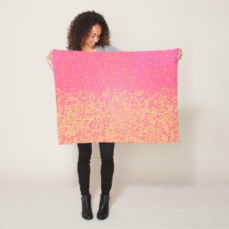 Manta Polar Limonada rosada del mosaico