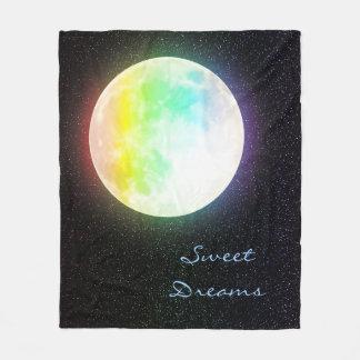 Manta Polar Luna del arco iris y cielo nocturno estrellado