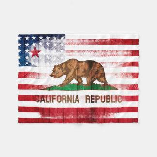 Manta Polar Madera californiana americana y Paintstrokes de la