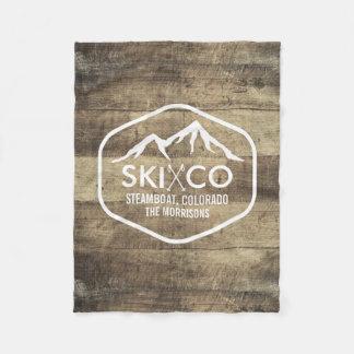Manta Polar Madera rústica de Colorado de la montaña del esquí