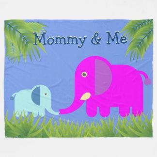 Manta Polar Mamá magenta del elefante el | del bebé que se
