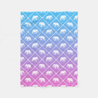 Manta Polar Modelo del elefante en el azul para picar