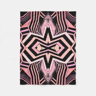 Manta Polar Modelo geométrico del rosa y del negro (color