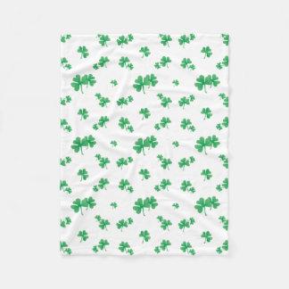 Manta Polar Modelo irlandés verde del trébol de la pendiente