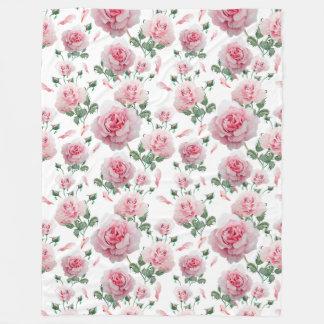 Manta Polar Modelo rosado de los rosas de la dispersión