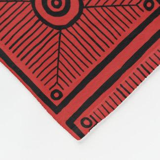 Manta Polar Modelo tribal rojo y negro
