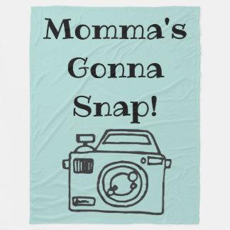 Manta Polar Mommas que va a romper al fotógrafo combinado del