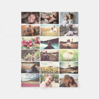 Manta Polar Mosaico de la foto de familia