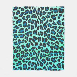 Manta Polar Negro del leopardo e impresión del trullo