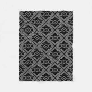 Manta Polar Negro estilizado del modelo del símbolo azteca en