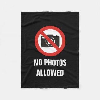 Manta Polar Ningunas fotos permitidas