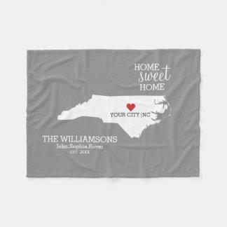 Manta Polar Nombres de encargo del mapa del estado de Carolina