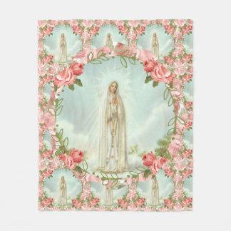 Manta Polar Nuestra señora de los rosas rosados de Fátima