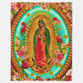 Manta Polar Nuestro Virgen María mexicano del santo de señora