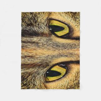 Manta Polar Ojos de gato intensos