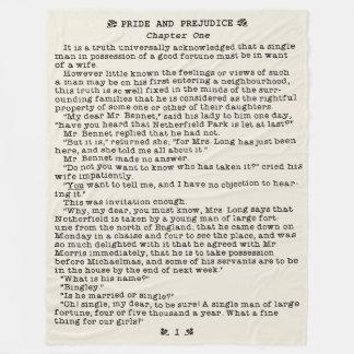 Manta Polar Orgullo de Jane Austen y cita de la literatura del