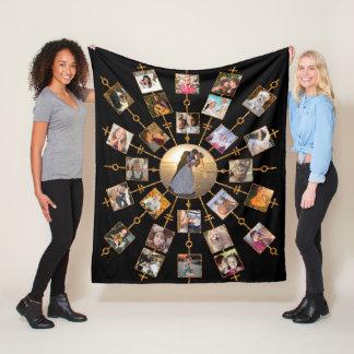 Manta Polar Oro negro bonito de las imágenes del collage 27 de