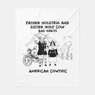 Manta Polar Padre Holstein y hábitos santos de la hermana